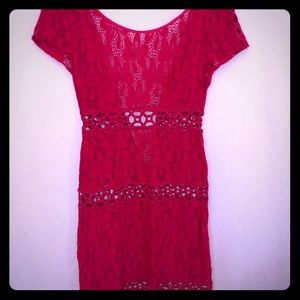 Laundry rose colored lace key hole dress SZ 6 NWOT